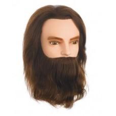 Babafej Férfi modell Karl szakállal 25cm. 100%-os emberi hajból.